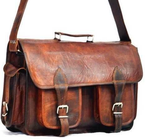 { Shreenath Enterprises } Leather Bags Now Handmade Vintage Style Camera Bag/ Messenger/ Camera Briefcase