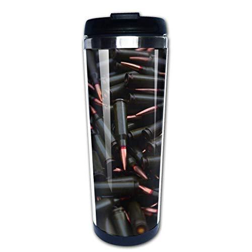 Taza de café de viaje Patrón de balas Taza de café con aislamiento de acero inoxidable Botella de agua deportiva 13.5 oz (400 ml) MUG-2765