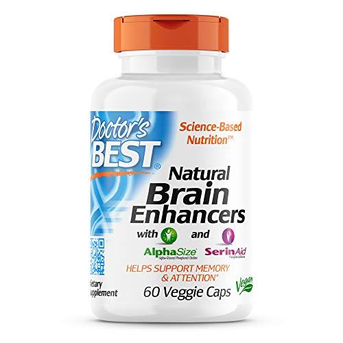 Doctor's Best, Natural Brain Enhancers, mit AlphaSize und SerinAid, 60 vegane Kapseln, glutenfrei