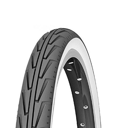 Michelin Cubierta, Rennradreifen City'J, 37-440 (500A Confort), Schwarz/Weiãÿ, FA003466038, Blanco, 500 A