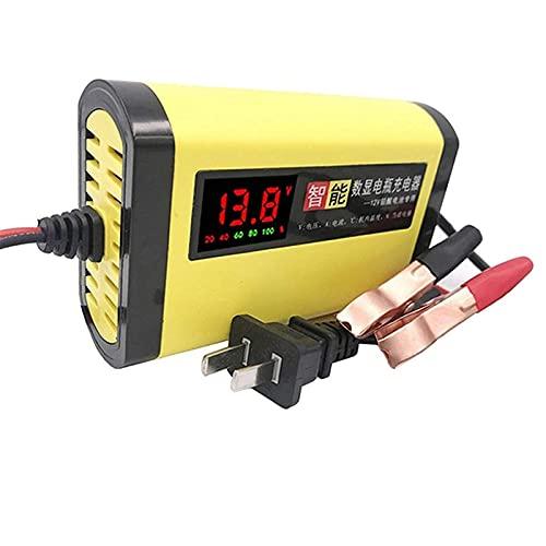 JMYSD Cargador De Batería para Automóvil, Cargador Y Mantenedor De Batería Automático Inteligente De 12 V / 2 A con Pantalla LCD, Mantenimiento para Automóviles, Motocicletas, Barcos