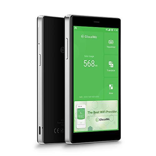 GlocalMe G4 Pro 4G LTE Mobiler WLAN Router, MIFI mit 1GB globalen Daten und 8GB EU Daten, Keine SIM-Karte nötig, Internationaler Hotspot für 144 Länder (schwarz)