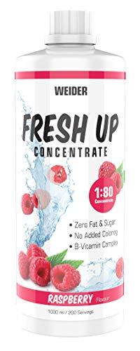 Weider Fresh Up Raspberry Getränkekonzentrat , zuckerfrei & ohne Farbstoffe, mit Vitaminen, 1 Liter
