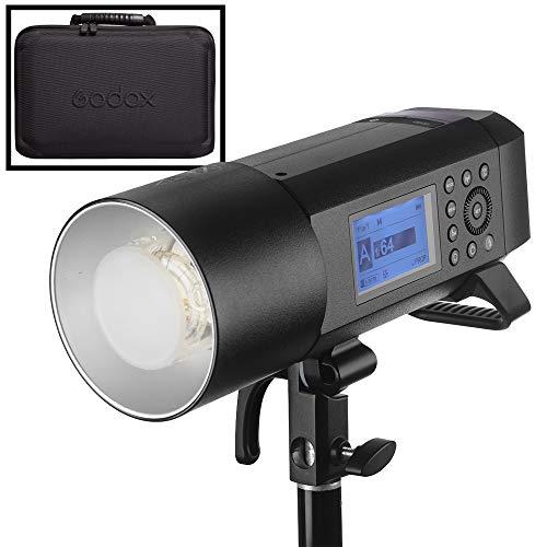 Godox AD400 Pro AD400Pro Cabezal de flash Flash estroboscópico profesional Luz portátil y flash portátil Última versión de Godox Multi-accesorios TTL y HSS Adaptable para tomas de estudio