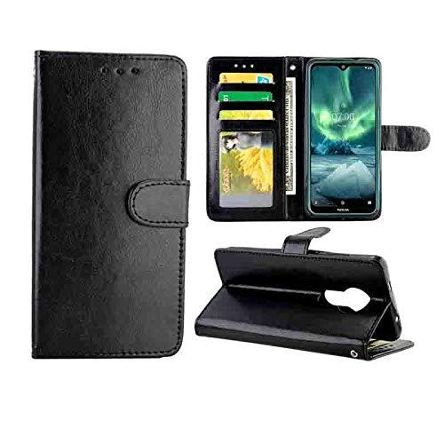 PROTECTIVECOVER+ / for Nokia 7.2 Crazy Horse Texture Cuero Horizontal Flip Funda Protectora con Soporte y Ranuras Tarjetas y Marco de la Billetera, Fashion Phone Funda para Protector