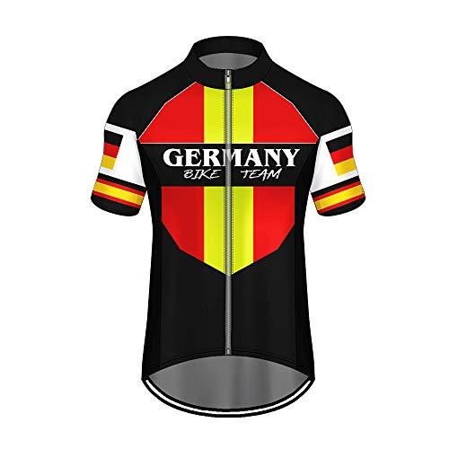 WAWNI Fahrradtrikot 3D Druck Länderflagge Reißverschluss Polyester Taschen Jersey Sommer Radfahren Tuch L V07091