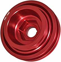 AJP Distributors Aluminum Light Weight Under Crankshaft Crank Shaft Drive Harmonic Balancer Pulley High Performance Racing JDM For B-Series B16 B18 B20 DOHC VTEC (Red)