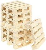 com-four® Set di sottobicchieri 8x in legno, sottobicchiere per bicchieri con design a pallet, 9,5 x 9,5 cm (08 pezzi - Paletta 10cm)