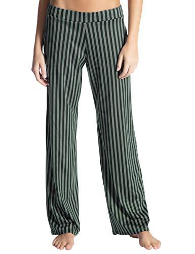 Calida Damen Favourites Trend 3 Schlafanzughose, Grün (Scarab Green 649), Small (Herstellergröße: S)