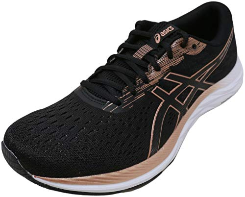 ASICS Women's Gel-Excite 7 Running Shoes, 7.5M, Black/Rose Gold