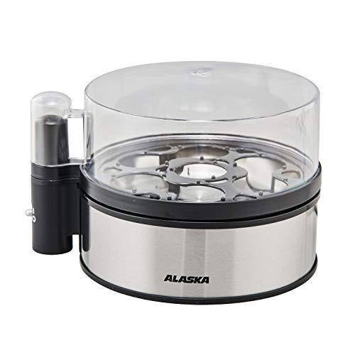 ALASKA Eierkocher EB 2010 S | 1-7 Eier | Edelstahl | 410 Watt | mit Eipicker und Messbecher | Überhitzungsschutz | Betriebskontrollanzeige | Akustiksignal | Kabelaufwicklung | Temperaturkontrolle