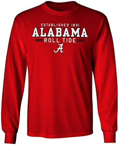 Alabama Crimson Tide pour Homme T-Shirt Sweat à Capuche Chapeau Drapeau de Jersey université Vêtements - Rouge - XXL