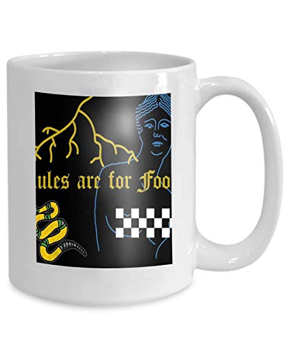 Becher Kaffee Teetasse Mode Moderne Grafikdruck Kleidung Beschriftungsregeln Narren Linie Griechische Frau Schlangenkopf Tiger Fulmination