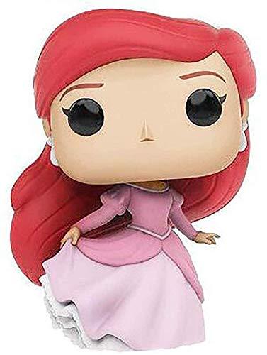 JANBLICA Pop Vinilo Pop Little Sirena Ariel Ornamentos Hechos a Mano Ariel Doll Princess Series Q Version Doll Mand Office Aberdeen Toy Muñeca Colección Juguete 10CM-10CM