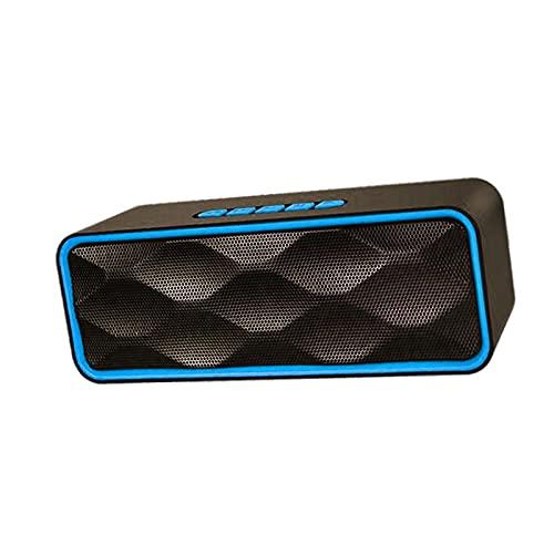 B Blesiya Altavoz Bluetooth Altavoz estéreo Recargable para teléfonos Inteligentes Llamada Manos Libres - Azul