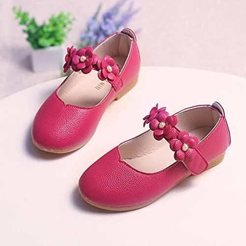 N\C 1-11 años de edad de cuero niñas zapatos flor fiesta zapatos bebé princesa zapatos niños zapatos de vestir plana sandalias blancas