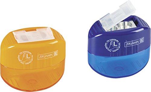 Baier & Schneider Office Sacapuntas con contenedor para zurdos, para minas finas y gruesas, 50 x 42 x 27 mm