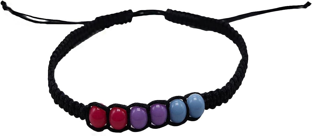 Bisexual Pride Bracelet Macrame Pride Bracelet ,Bisexual Jewelry, Pride Pink Purple Blue Bracelet Jewelry