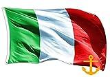 Bandera de Italia de 90 x 150 cm, tricolor azul, tejido resistente a la bandera italiana (tejido náutico 90 x 150 cm)