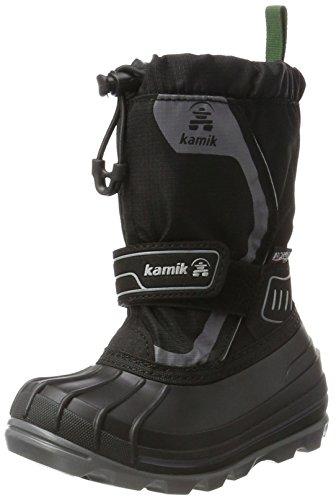 Kamik Unisex-Kinder SNOWCOAST4 Schneestiefel, Schwarz (Black-Noir Blk) , 33/34 (Herstellergröße : 2)
