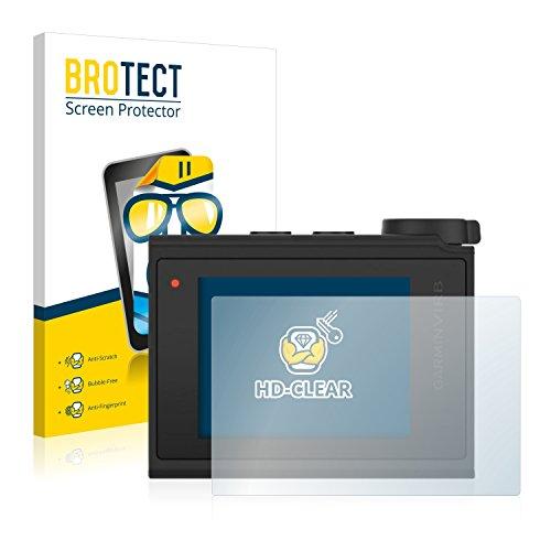 BROTECT Protector Pantalla Compatible con Garmin Virb Ultra 30 Protector Transparente (2 Unidades) Anti-Huellas