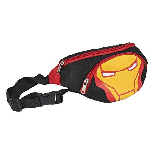 ARTESANIA CERDA Avengers Bolso Riñonera, 33 cm, Negro