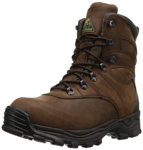 Rocky Men's Sport Utility Eight Inch M, Brown Leather, 10.5 W US