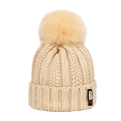 Heißer Pompom Frauen Wintermütze Strickmütze Plus Dicke Warme Skullies Mützen Hut Weibliche Damen Brief Hohe Qualität Motorhaube gorros