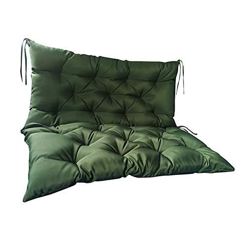 LINGRUI Coussin de banc de jardin 2 3 places balançoire coussins dossier imperméable pour banc en bois, lavable Vert foncé 100 x 50 x 50 cm