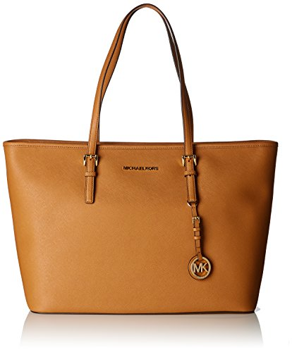 Michael Kors Damen Jet Set Travel Tote, Braun (Acorn), 16x26x37 Centimeters