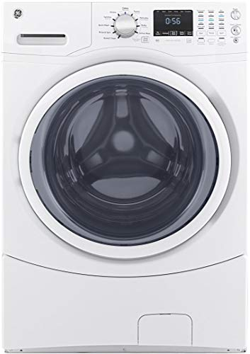 GE GFW430SSMWW Front Load Washer, 4.5 Cu. Ft. Capacity, White,