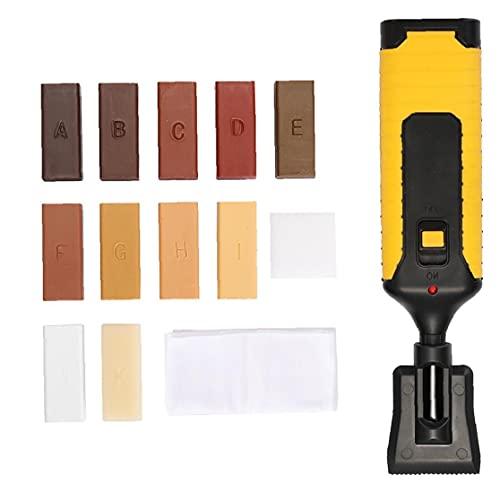 Kit de reparación de pisos laminados Muebles de encimera Chips Scratches Semply Herramienta Sistema de cera, herramientas de mano