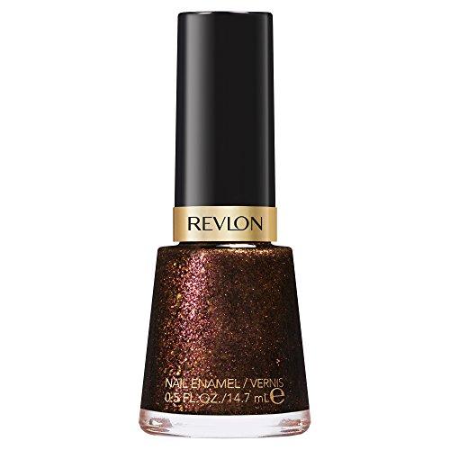 Revlon Nail Enamel, Chip Resistant Nail Polish, Glossy Shine Finish, in Nude/Brown, 934 Untamed, 0.5 oz