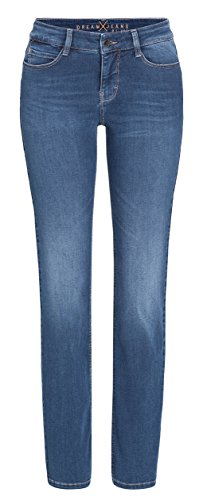 MAC Damen Gerades Bein Straight Jeans Dream, Blau (mid D850), Gr. 34/30 (Herstellergröße: 34/30)