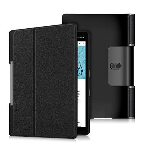 Gylint Case for Lenovo Yoga Smart Tab 10.1 (YT-X705F), Lightweight Protective Slim Smart Cover Case for Lenovo Yoga Smart Tab 10.1 (YT-X705F) Tablet Black