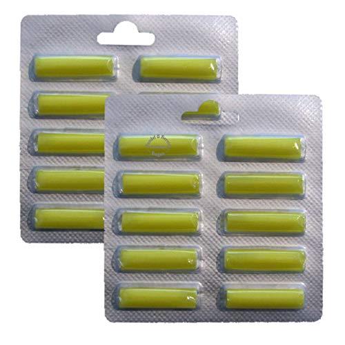 für KIRBY 20x Duftstäbchen - Duft Zitrone für viele Staubsauger z.B, AEG, Vorwerk, Miele, Bosch, Siemens (6015)