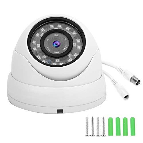 Cámara de la bóveda, sistema de NTSC de la vigilancia de la cámara AHD de la cámara de la bóveda del CCTV 1080p para el coche del barco del autobús(blanco)