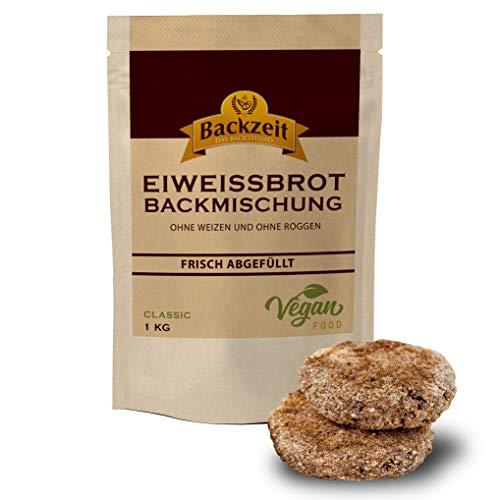 Eiweißbrot Backmischung Bratlinge ohne Weizen und Roggenmehl - frisch abgefüllte 5 kg XXL Vorratspackung in Deutschland hergestelltes Diabetikerbrot mit 90 % weniger Kohlenhydraten als Brot