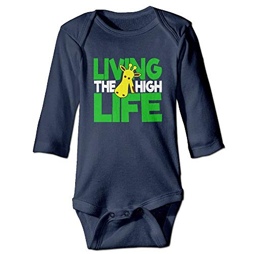 SDGSS Combinaison Bébé Bodysuits Living The High Life Baby Boys Long Sleeves One-Piece Suit for 6-24m Baby