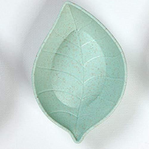Deniseonuk Piatto di Salsa in Ceramica Creativa Piatto Piccolo Piatto di Salsa di aceto Piatto Verde