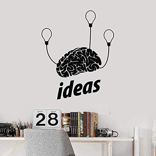 supmsds Idee Wandaufkleber Für Wohnzimmer Gehirn Geist Glühbirnen Brainstorm Brilliant Vinyl Wandtattoo Klassenzimmer Teen Room Decor 63X76 cm