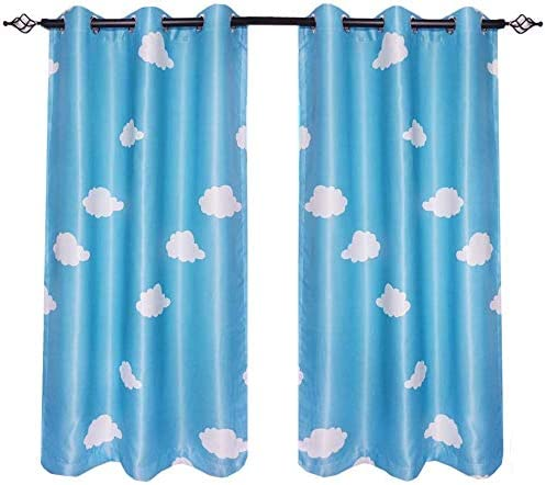 Super intense SALE Gxi Blue Courier shipping free Curtains 2 Panels Blackout 47 Drapes for Bedroom inches