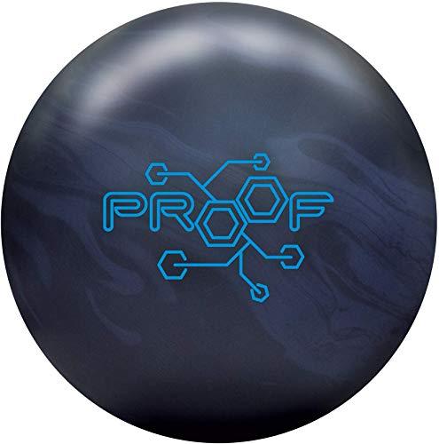 Track Unisex-Erwachsene Proof 16lb Bowlingkugel, Schwarz/Grau Solid, 16