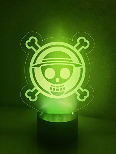 One Piece Logo Lampe, Schreibtischlampe, Nachttischlampe
