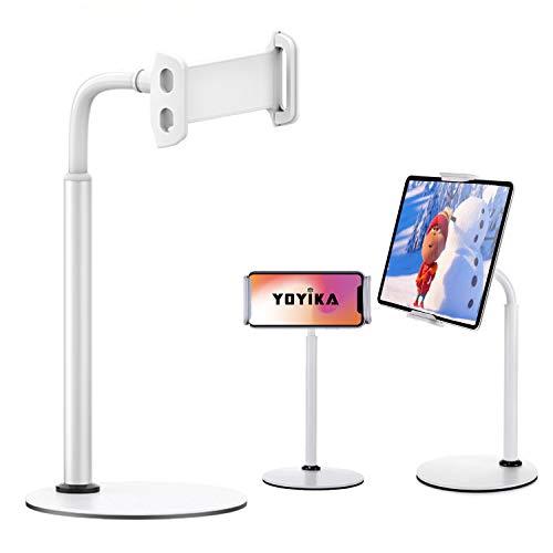 Yoyika Soporte Tablet Móvil, Universal Soporte Mesa para 4.7'~12.9' Tablets, Soporte de Aluminio...