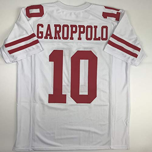 Unsigned Jimmy Garoppolo San Francisco White Custom Stitched Football Jersey Size Men's XL New No Brands/Logos