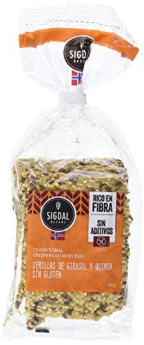 Sigdal Bakeri, Pane de semilla envasado (Semillas de girasol y quínoa) - 7 de 190 gr. (Total 1330 gr.)