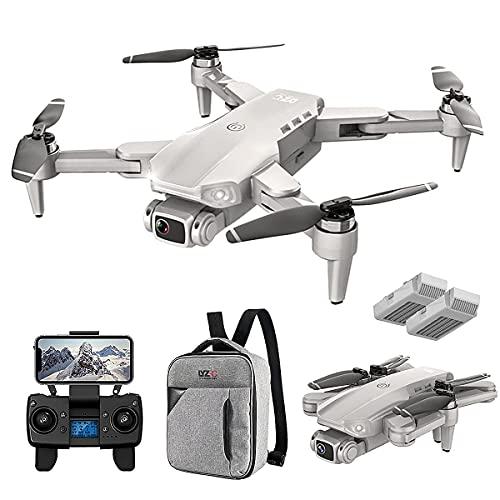 JJDSN Dron 4K con cámara UHD para Adultos, cuadricóptero GPS fácil para Principiantes con Tiempo de Vuelo de 56 Minutos, transmisión FPV de 5 GHz, Retorno automático a casa, sígueme, 2 baterías