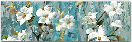 DIY 5D Diamond Painting by Number Kits,Crystal Rhinestone Diamond Embroidery Paintings Pictures Arts Craft for Home Wall Decor,Full Drill,Watercolor Flowers-L9023-Round drill,90x180cm(35.4*70.8inch)