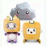 WQSD 3pcs LankyBox Plush Doll Cute Foxy Plush Toy Foxy and Boxy Plush Pillow 20cm-29cm Cartoon Robot Soft Toys Gifts for Birthday Kids
